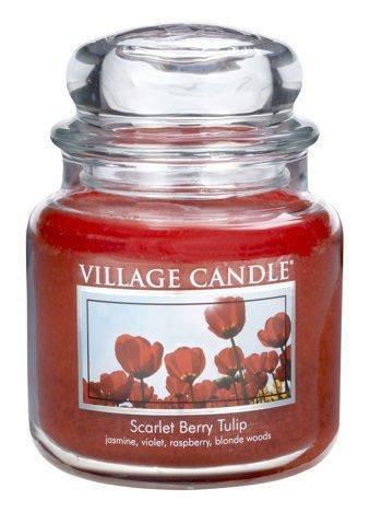 Świeca zapachowa Village Candle ŚREDNIA 453 gr - Scarlet Berry Tulip