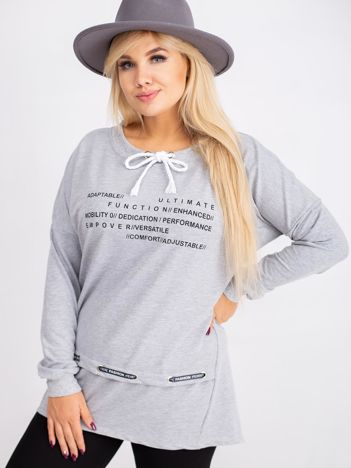 Szara bluza plus size Aspiration