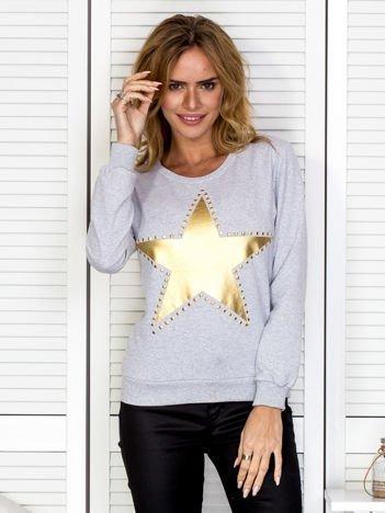 Szara bluza z gwiazdą