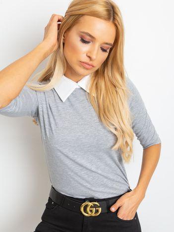 Szara bluzka Collar