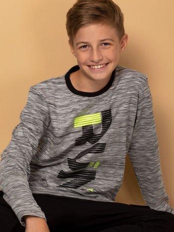 Szara bluzka dla chłopca z printem