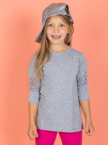 Szara bluzka dziecięca z długim rękawem