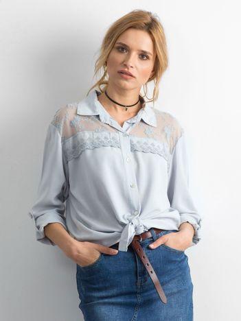Szara koszula z długim rękawem