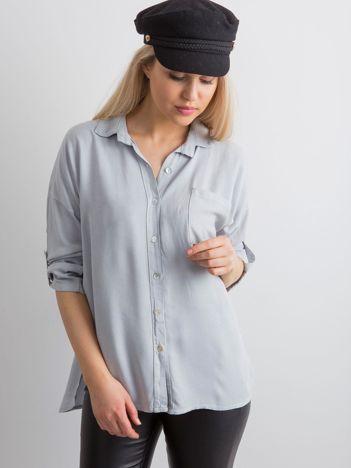 Szara luźna koszula