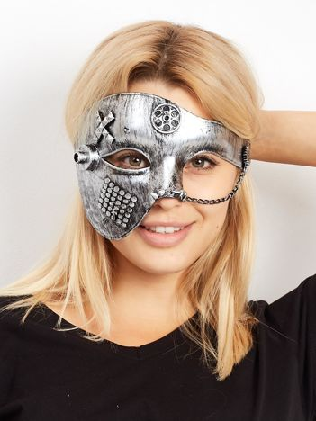 Szara maska karnawałowa