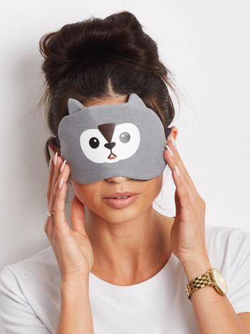 Szara maska na oczy do spania
