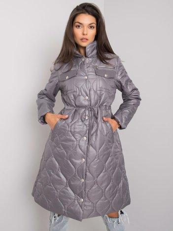 Szara pikowana kurtka przejściowa Casarine