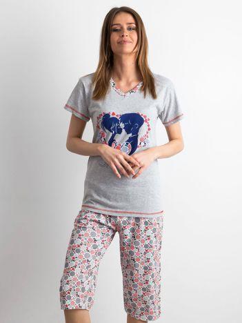 Szara piżama damska