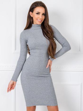 Szara sukienka Livia RUE PARIS