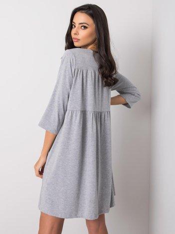 Szara sukienka z bawełny Dalenne