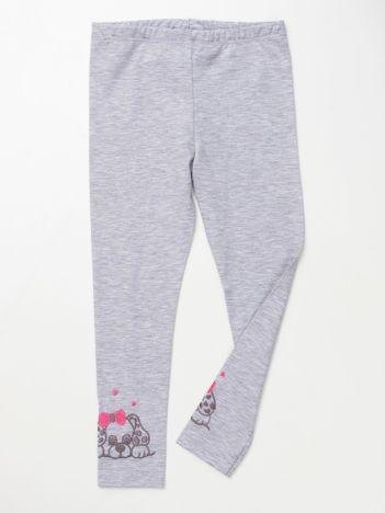 Szare bawełniane legginsy dla dziewczynki