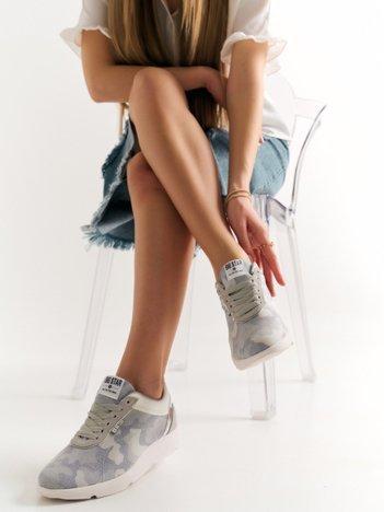 Szare buty sportowe Big star z lustrzaną wstawką nad piętą