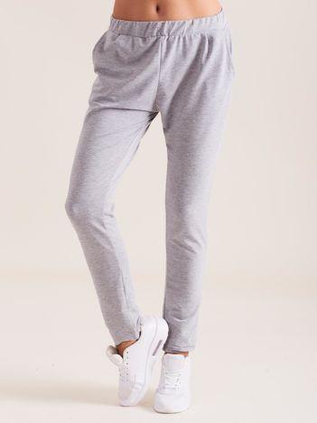 Szare damskie bawełniane spodnie dresowe
