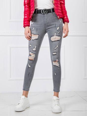 Szare jeansy Amber
