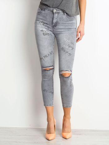 Szare jeansy Chambray
