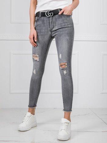 Szare jeansy Chloe