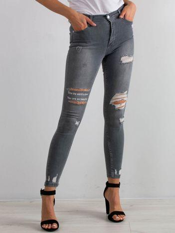 Szare jeansy Duchess