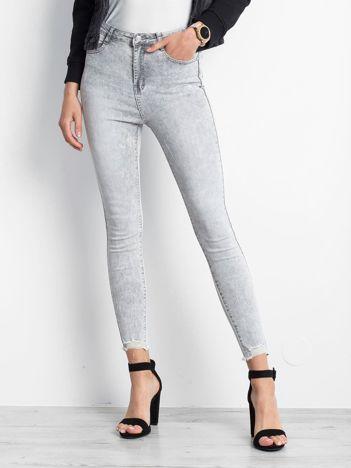 Szare jeansy Excavating
