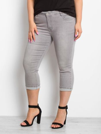 Szare jeansy plus size Sherbet