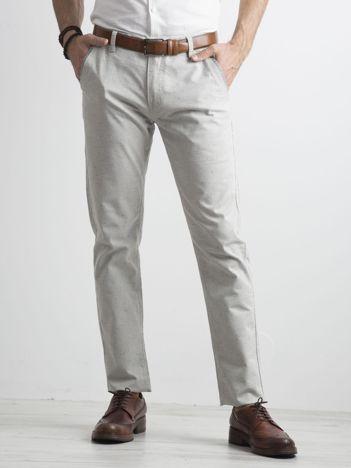 Szare męskie spodnie chino