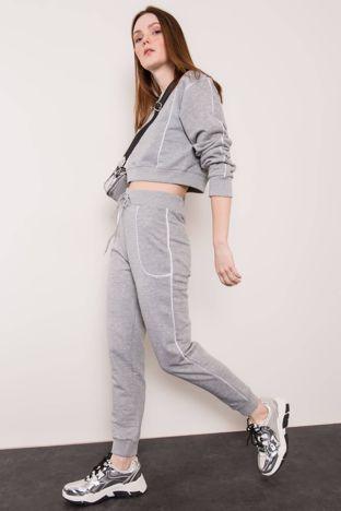 Szare spodnie dresowe BSL