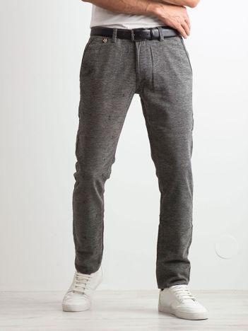 Szare spodnie męskie w drobny wzór