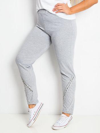 Szare spodnie plus size Active