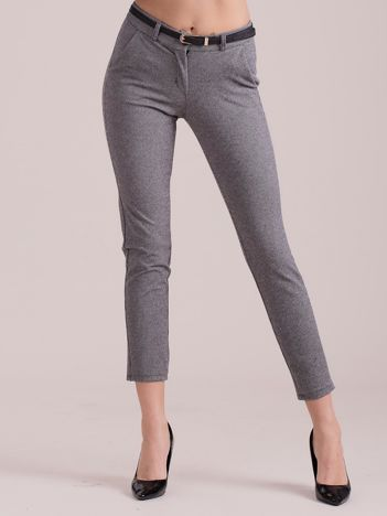 Szare spodnie w drobny wzór