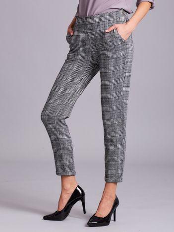 Szare wzorzyste spodnie damskie
