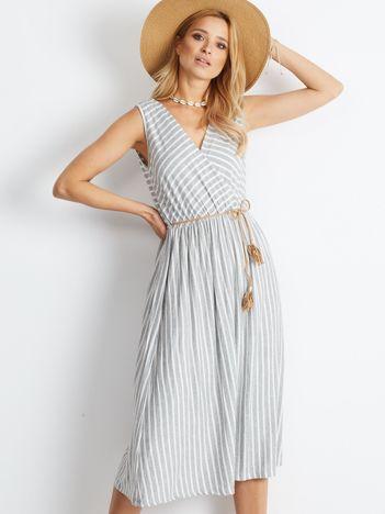 Szaro-biała sukienka Idyllic