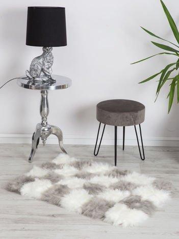 Szaro-biały dywan shaggy