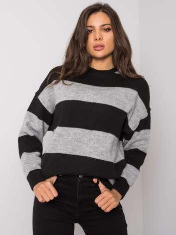Szaro-czarny sweter w paski Nine
