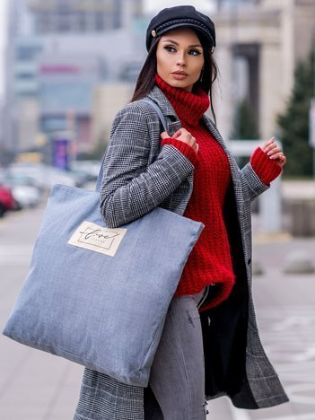 Szaro-niebieska duża uniwersalna torba
