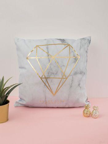 Szaro-złota poduszka ozdobna
