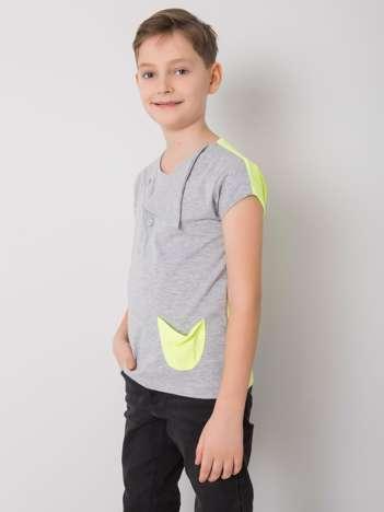 Szaro-żółty t-shirt dla chłopca DODO KIDS