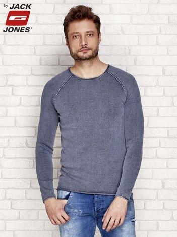 Szary dekatyzowany sweter męski