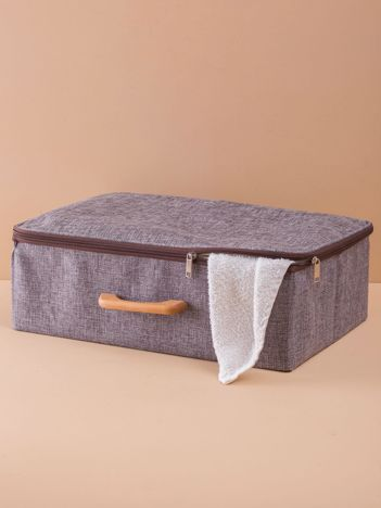 Szary materiałowy organizer walizka