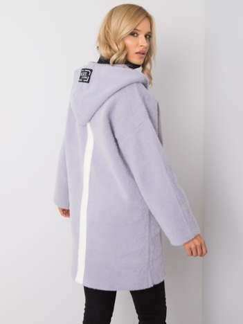 Szary płaszcz alpaka Nexa