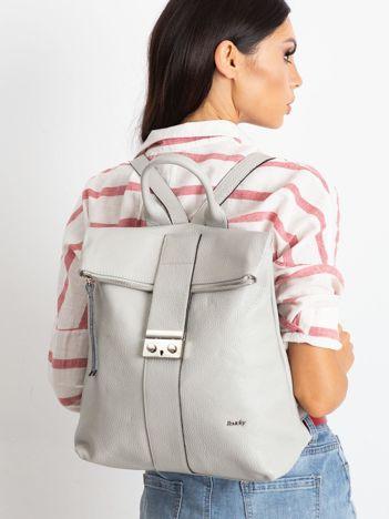 Szary plecak skórzany