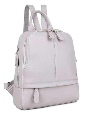 Szary plecak z kieszeniami LUIGISANTO