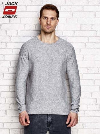 Szary sweter męski w melanżowy wzór