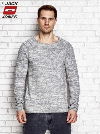 Szary sweter męski z motywem melange