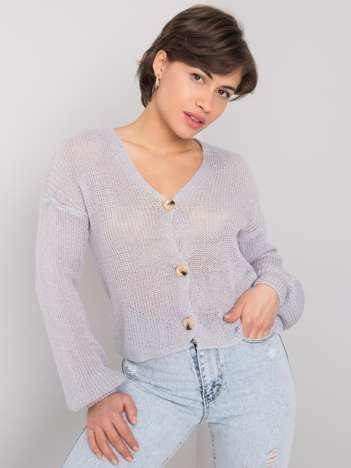 Szary sweter rozpinany Kelianne