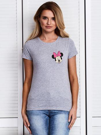 Szary t-shirt DISNEY z Myszką Minnie