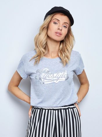 Szary t-shirt Lifestyle