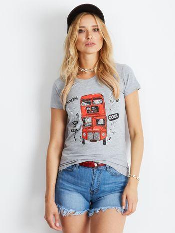 Szary t-shirt London