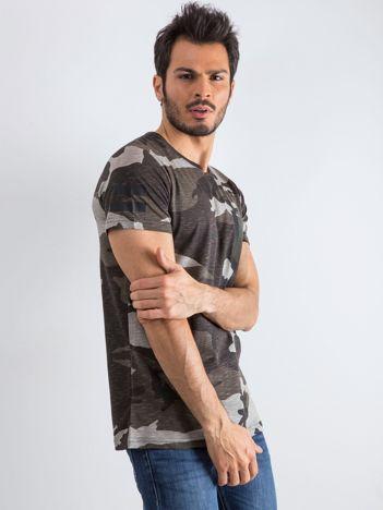 Szary t-shirt męski Warrior