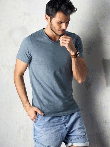 Szary t-shirt męski basic