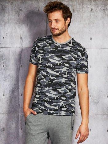Szary t-shirt męski moro