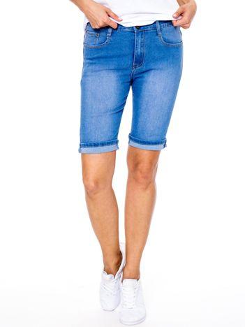 Szorty jeansowe niebieskie z podwijanymi nogawkami PLUS SIZE